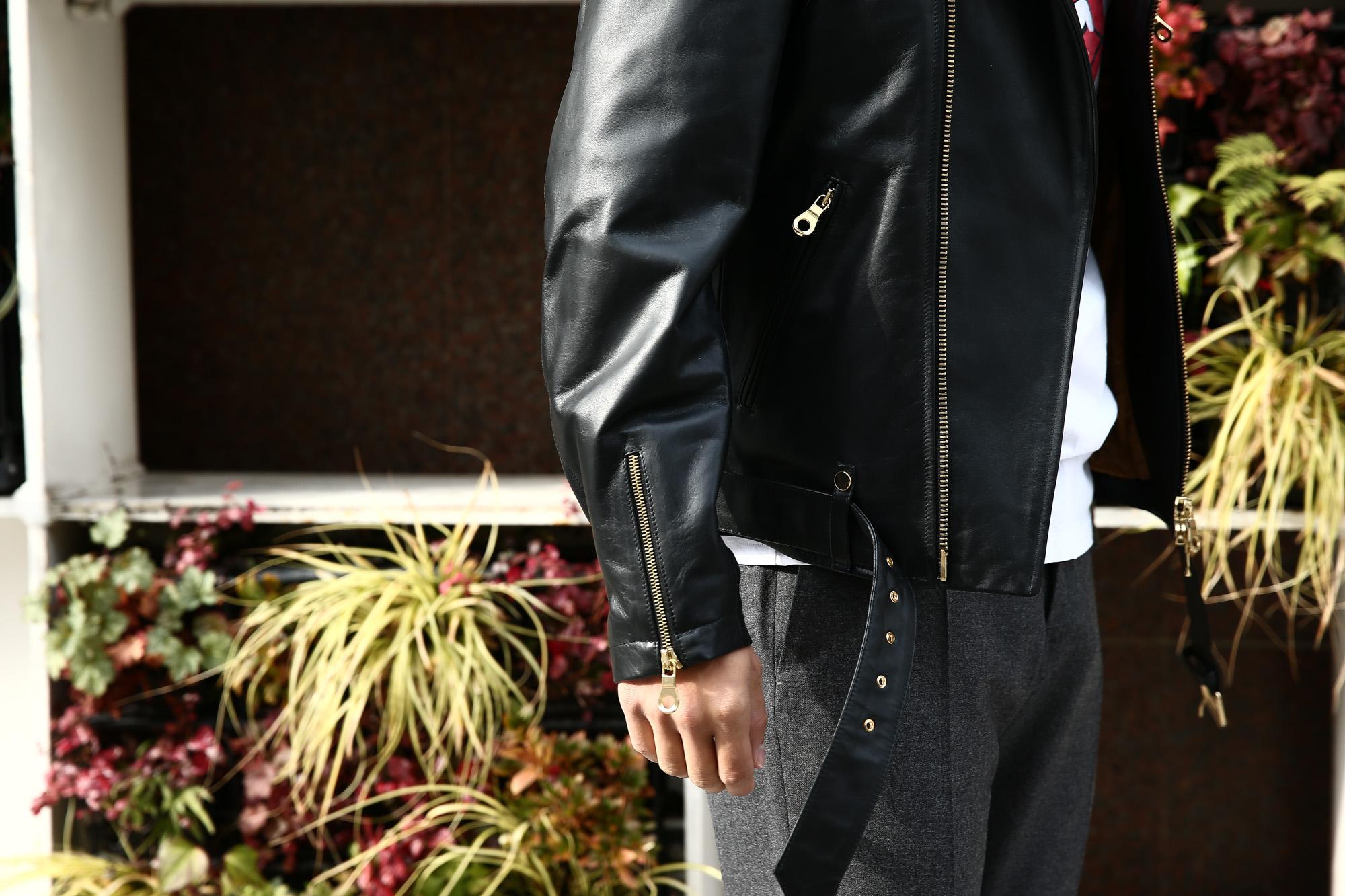 【CINQUANTA /// チンクアンタ】 6633 W RIDERS CAVALLO (ダブルライダース ジャケット) HORSE LEATHER ホースレザー ライダース ジャケット BLACK (ブラック・999) Made in italy (イタリア製) 2017 秋冬新作 cinquanta 愛知 名古屋 ZODIAC ゾディアック ダブルライダース レザー