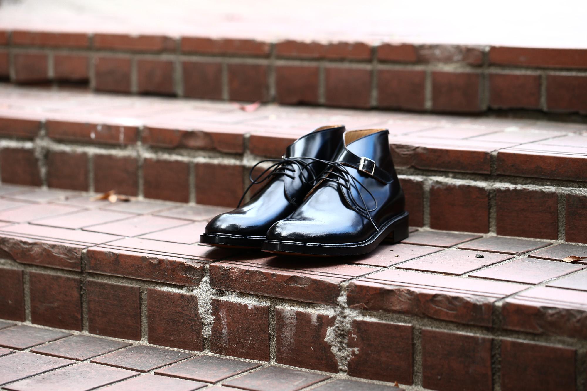 Cuervo (クエルボ) 【Derringer Cordovan / デリンジャー コードバン】 Shell Cordovan シェルコードバンレザー Goodyear Welt Process  Double Leather Sole Chukka Boots チャッカブーツ  BLACK(ブラック・BLK) MADE IN JAPAN(日本製) 2017 秋冬新作 愛知 名古屋 ZODIAC ゾディアック クエルボ チャッカブーツ コードバン 5(24),5.5(24.5),6(25),6.5(25.5),7(26),7.5(26.5),8(27),8.5(27.5),9(28)