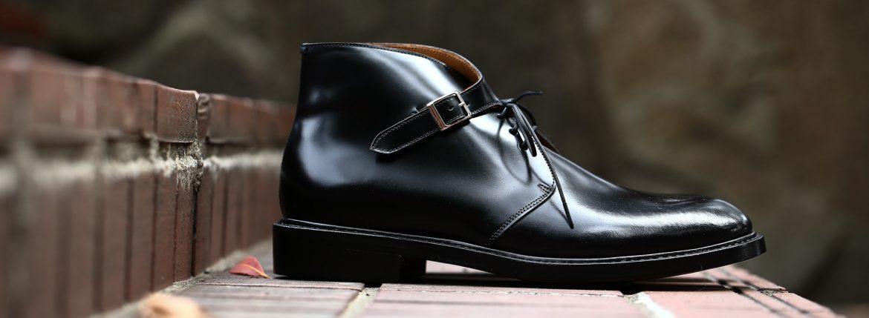 Cuervo (クエルボ) 【Derringer Cordovan / デリンジャー コードバン】 Shell Cordovan シェルコードバンレザー Goodyear Welt Process  Double Leather Sole Chukka Boots チャッカブーツ  BLACK(ブラック・BLK) MADE IN JAPAN(日本製) 2017 秋冬新作のイメージ