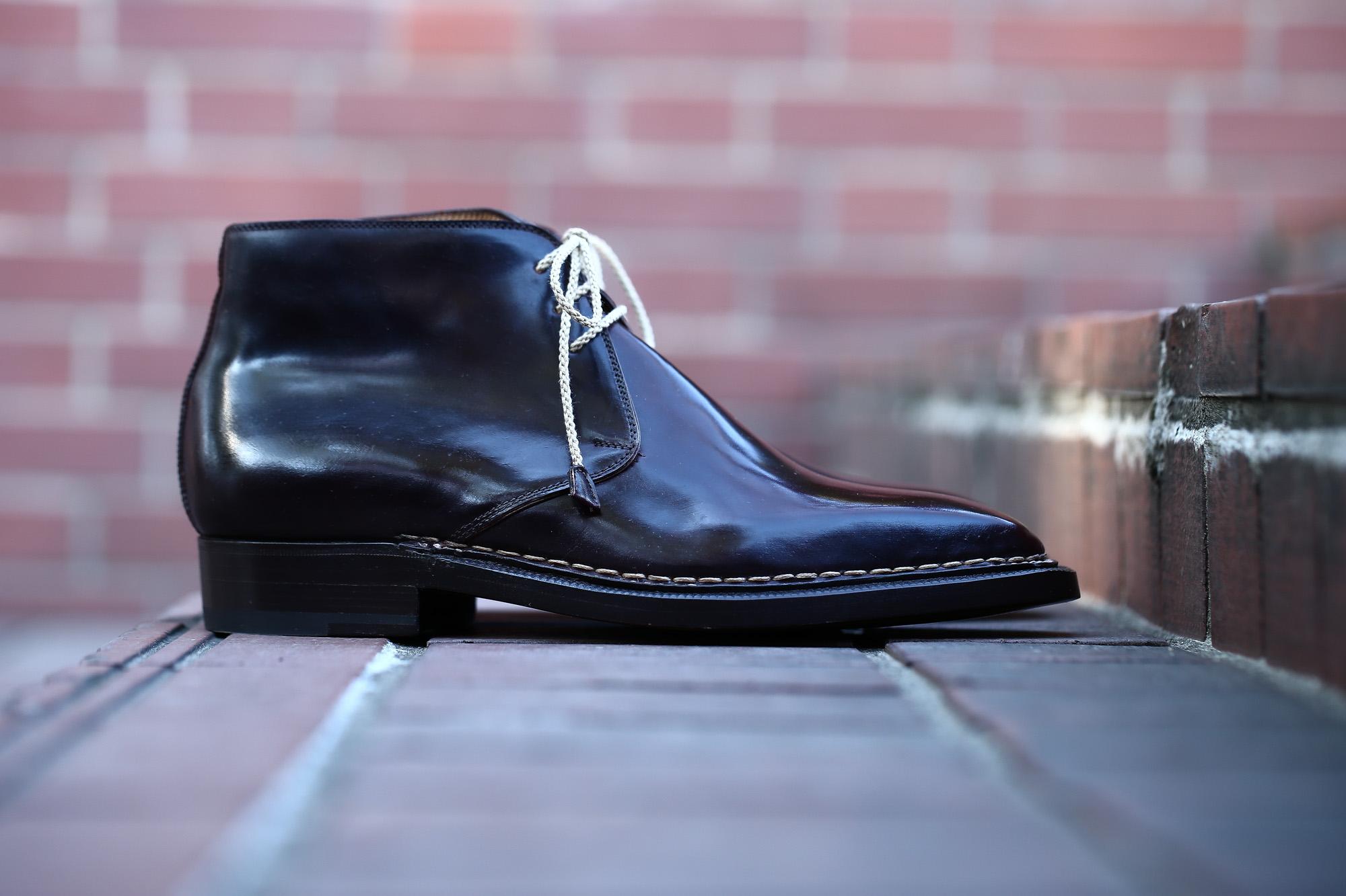 【ENZO BONAFE // エンツォボナフェ】 ART.3722 Chukka boots チャッカブーツ Horween Shell Cordovan Leather ホーウィン社 シェルコードバンレザー ノルベジェーゼ製法 チャッカブーツ コードバンブーツ No.8(バーガンディー)  made in italy (イタリア製) 2017 秋冬新作 愛知 名古屋 Alto e Diritto アルト エ デリット エンツォボナフェ コードバン チャッカ 5.5,6,6.5,7,7.5,8,8.5,9,9.5