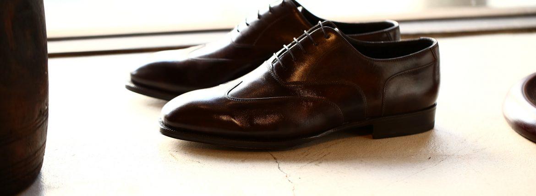 ENZO BONAFE(エンツォボナフェ) ART.EB-30 Bonaudo Museum Calf Leather(ボナウド社ミュージアムカーフレザー) ウィングチップ シューズ DARKBROWN(ダークブラウン) 【8 1/2/ご予約オーダー分入荷】のイメージ