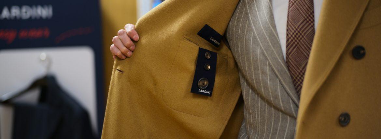 LARDINI (ラルディーニ) Spolverino Chester coat (Wool) ウール スポルベリーノ チェスターコート CAMEL (キャメル・1) , NAVY (ネイビー・5) Made in italy (イタリア製) 2018 秋冬のイメージ
