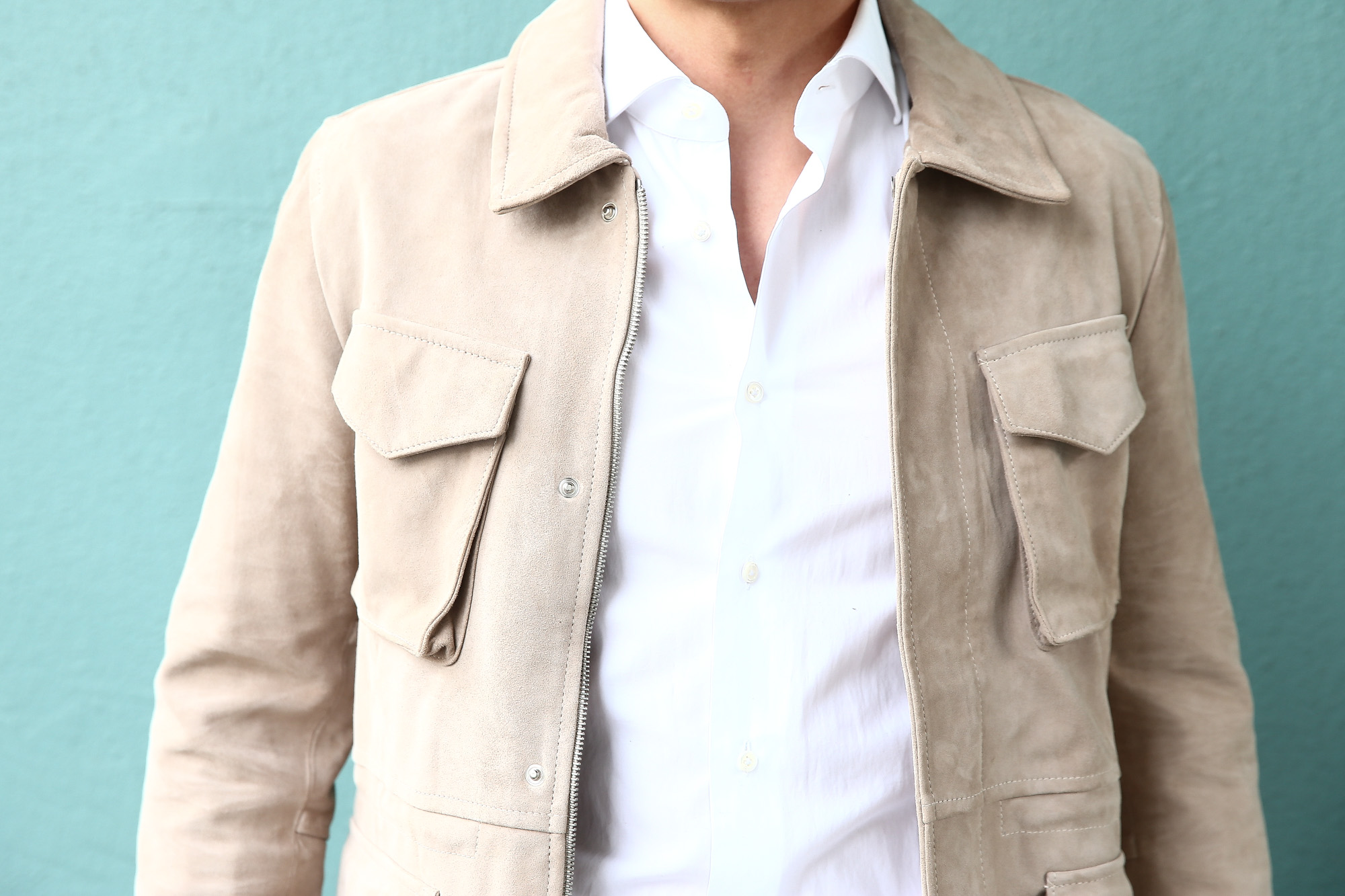 【Radice // ラディーチェ】 M-65 Suede Leather Jacket スエードラムナッパレザー ミリタリージャケット GRIGIO (ベージュ) MADE IN ITALY (イタリア製) 2017 秋冬新作 radice ラディーチェ 愛知 名古屋 ZODIAC ゾディアック