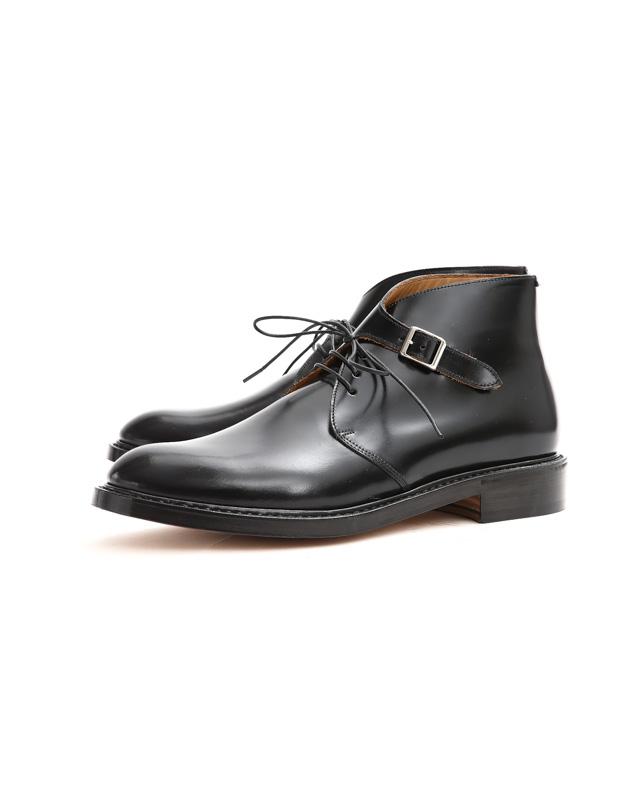 Cuervo (クエルボ) 【Derringer Cordovan / デリンジャー コードバン】 Shell Cordovan シェルコードバンレザー Goodyear Welt Process  Double Leather Sole Chukka Boots チャッカブーツ  BLACK(ブラック・BLK) MADE IN JAPAN(日本製) 2017 秋冬新作
