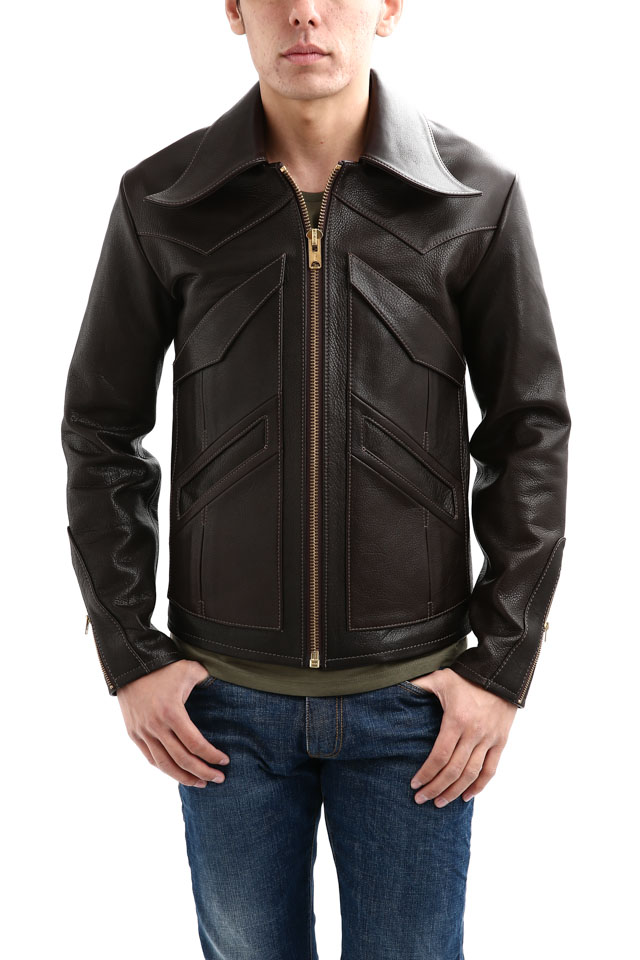 South Paradiso Leather(サウスパラディソレザー) East West イーストウエスト 【WINCHESTER //// ウィンチェスター】 Cow Hide Leather カウハイドレザー レザージャケット DARK BROWN(ダークブラウン) MADE IN USA(アメリカ製)