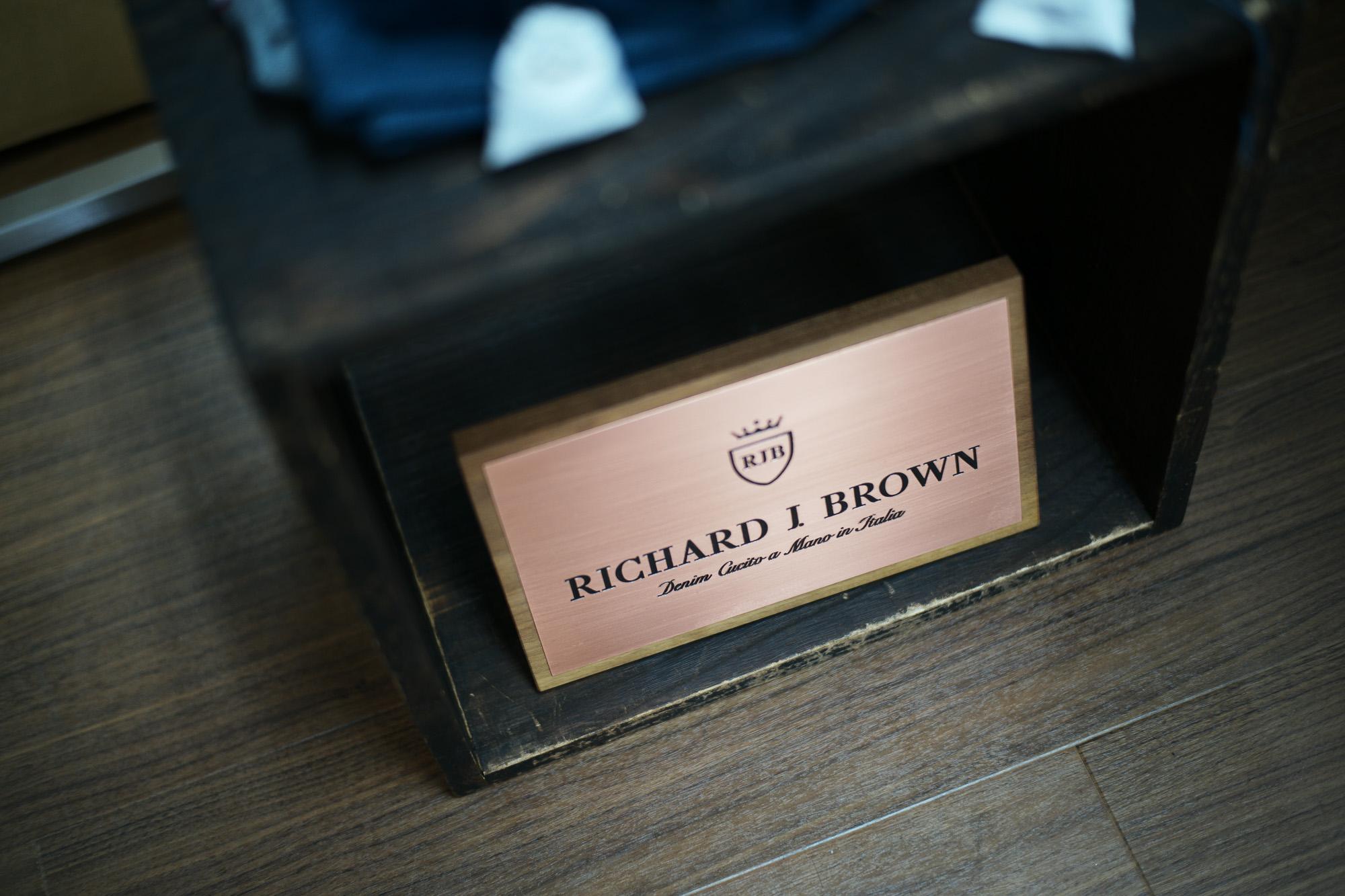 RICHARD J.BROWN / リチャードジェイブラウン (2018 秋冬 プレ 展示会) RICHARDJBROWN リチャードジェイブラウン デニムパンツ DENIM 2018年春夏 展示会。愛知 名古屋 ZODIAC  ジーンズ