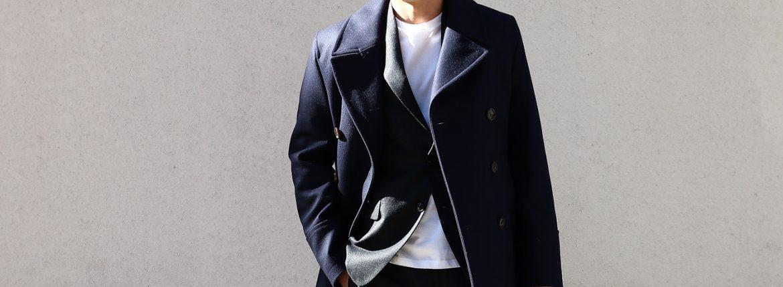 【Sealup / シーラップ】 GENOVA(ジェノバ) 50002 7591 01 メルトンウール サーモアライニング ロングPコート Pコート ロング ピーコート NAVY (ネイビー・01) MADE IN ITALY(イタリア製) 2017 秋冬新作のイメージ