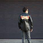 South Paradiso Leather(サウスパラディソレザー) East West(イーストウエスト) 【ILLUMINATI RAINBOW SHIRTS // イルミナティレインボーシャツ】 Cow hide Leather カウハイドレザー レザーシャツ BLACK(ブラック) MADE IN USA(アメリカ製)のイメージ