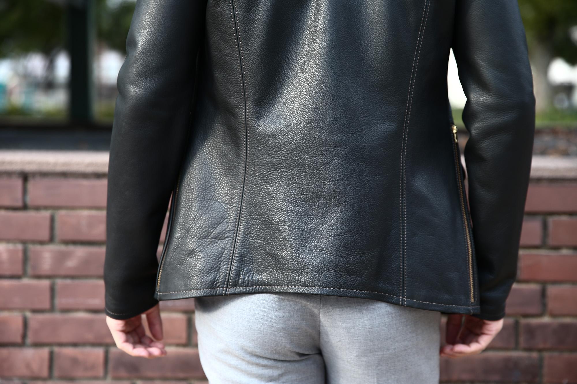 【South Paradiso Leather / サウスパラディソレザー】 East West イーストウエスト SMOKE(スモーク) Cow Hide Leather カウハイドレザー レザージャケット BLACK (ブラック) MADE IN USA (アメリカ製) 愛知 名古屋 Alto e Diritto アルト エ デリット サウスパラディソ イーストウエスト パラディソ PARADISO ヴィンテージ レザージャケット  36,38,40,42,44