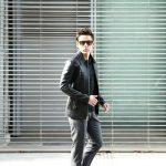 South Paradiso Leather (サウスパラディソレザー) East West イーストウエスト 【SMOKE //// スモーク】 Cow Hide Leather カウハイドレザー レザージャケット BLACK (ブラック) MADE IN USA (アメリカ製)のイメージ