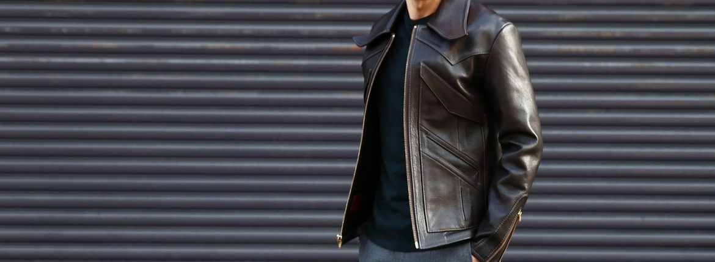 South Paradiso Leather(サウスパラディソレザー) East West イーストウエスト 【WINCHESTER /// ウィンチェスター】 Cow Hide Leather カウハイドレザー レザージャケット DARK BROWN(ダークブラウン) MADE IN USA(アメリカ製)のイメージ
