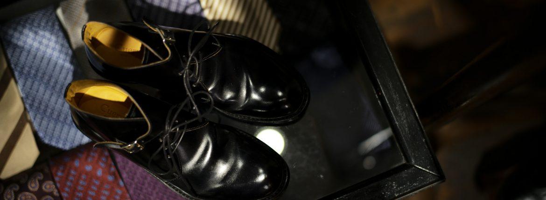 Cuervo (クエルボ) 【Derringer Cordovan // デリンジャー コードバン】 Shell Cordovan シェルコードバンレザー Goodyear Welt Process  Double Leather Sole Chukka Boots チャッカブーツ  BLACK(ブラック・BLK) MADE IN JAPAN(日本製) 【1Month 着用 Staff 私物】のイメージ