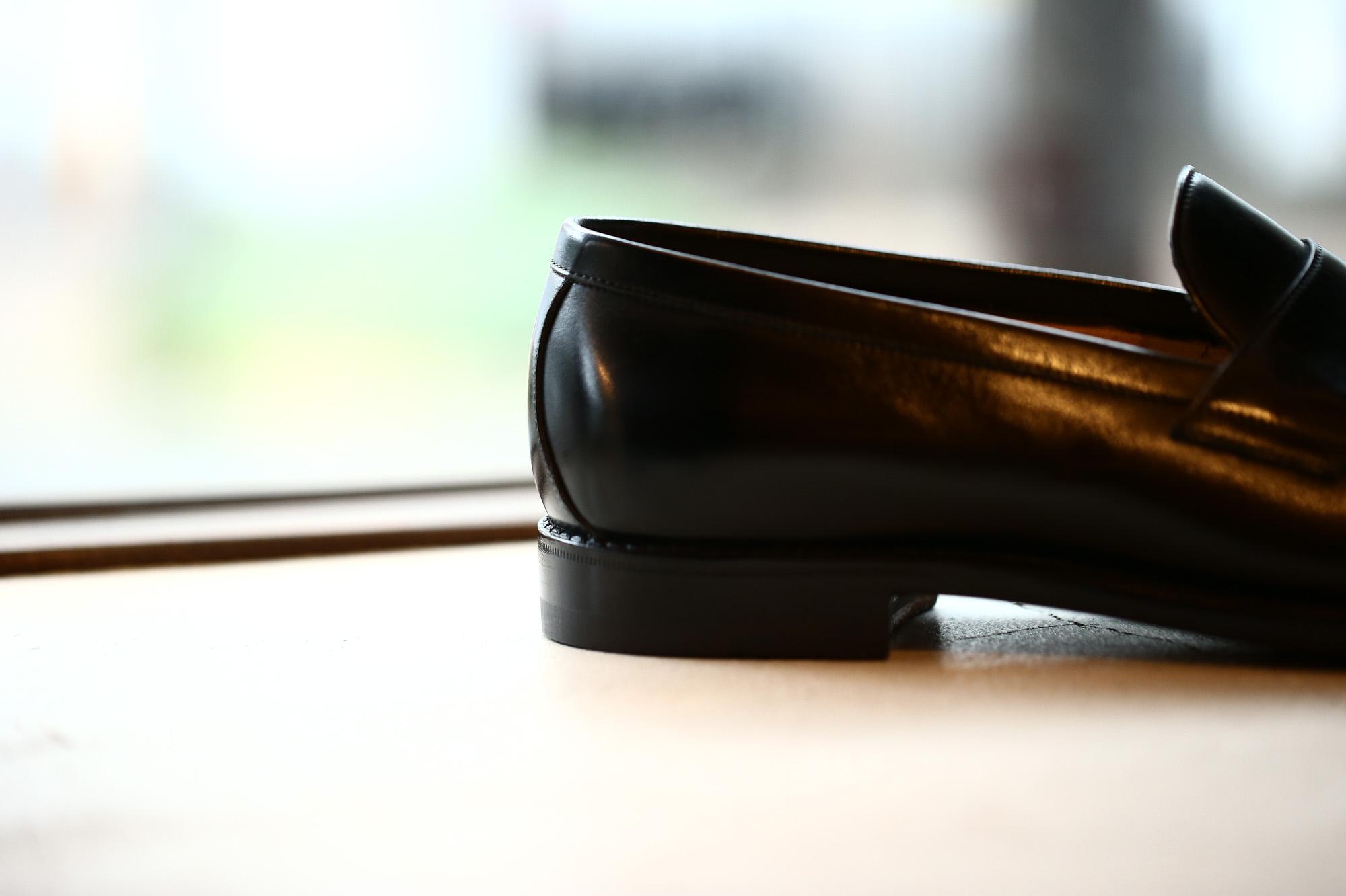 ENZO BONAFE(エンツォボナフェ) ART.3713 Coin Loafer コインローファー Crocodile クロコダイル エキゾチックレザーシューズ BLACK・999(ブラック・999) made in italy(イタリア製) 2018秋冬 enozobonafe クロコ クロコローファー 愛知 名古屋 Alto e Diritto アルト エ デリット