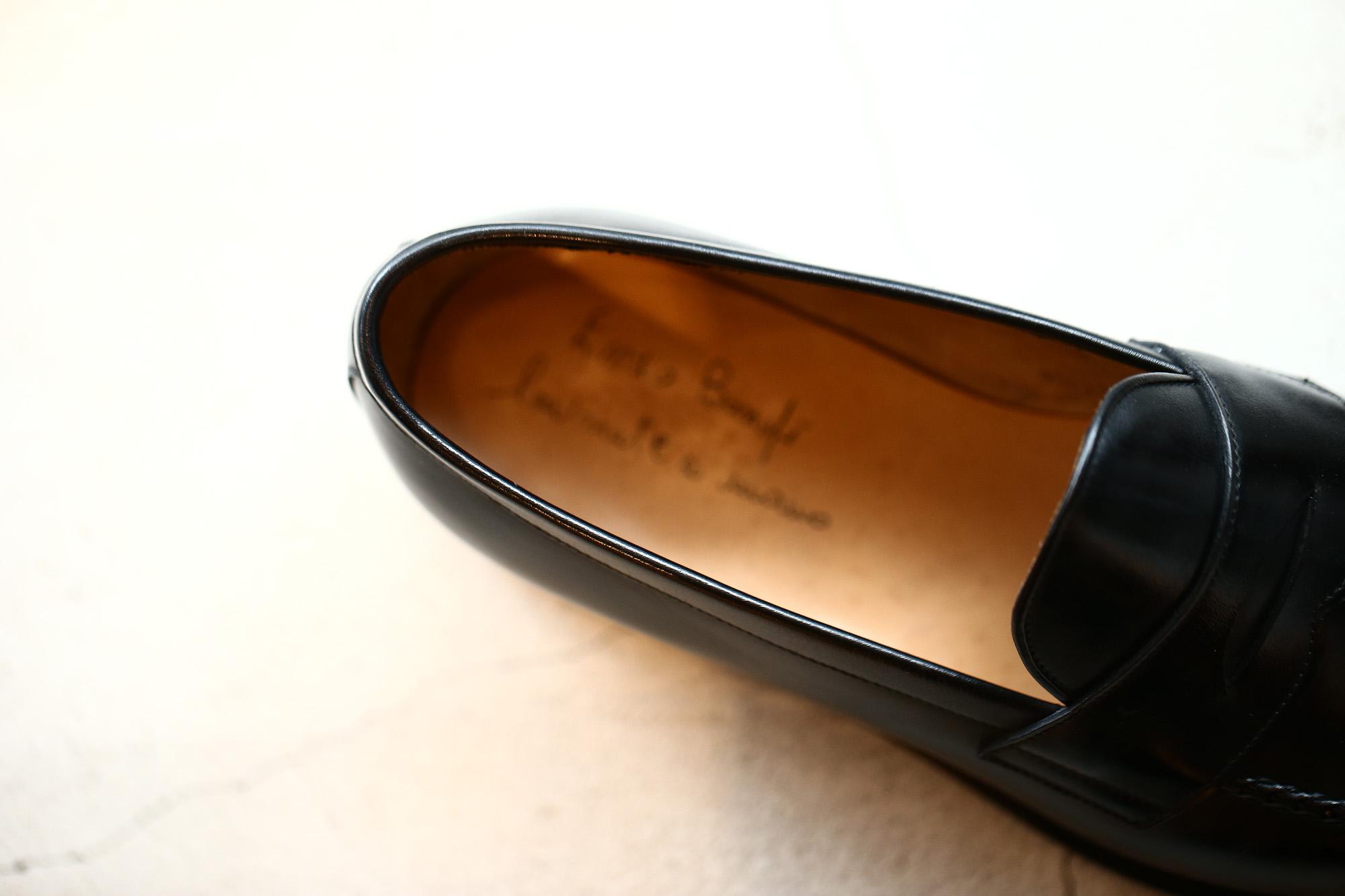 ENZO BONAFE(エンツォボナフェ) ART.3713 Coin Loafer コインローファー Crocodile クロコダイル エキゾチックレザーシューズ BLACK・999(ブラック・999) made in italy(イタリア製) 2018春夏 enozobonafe クロコ クロコローファー 愛知 名古屋 ZODIAC ゾディアック