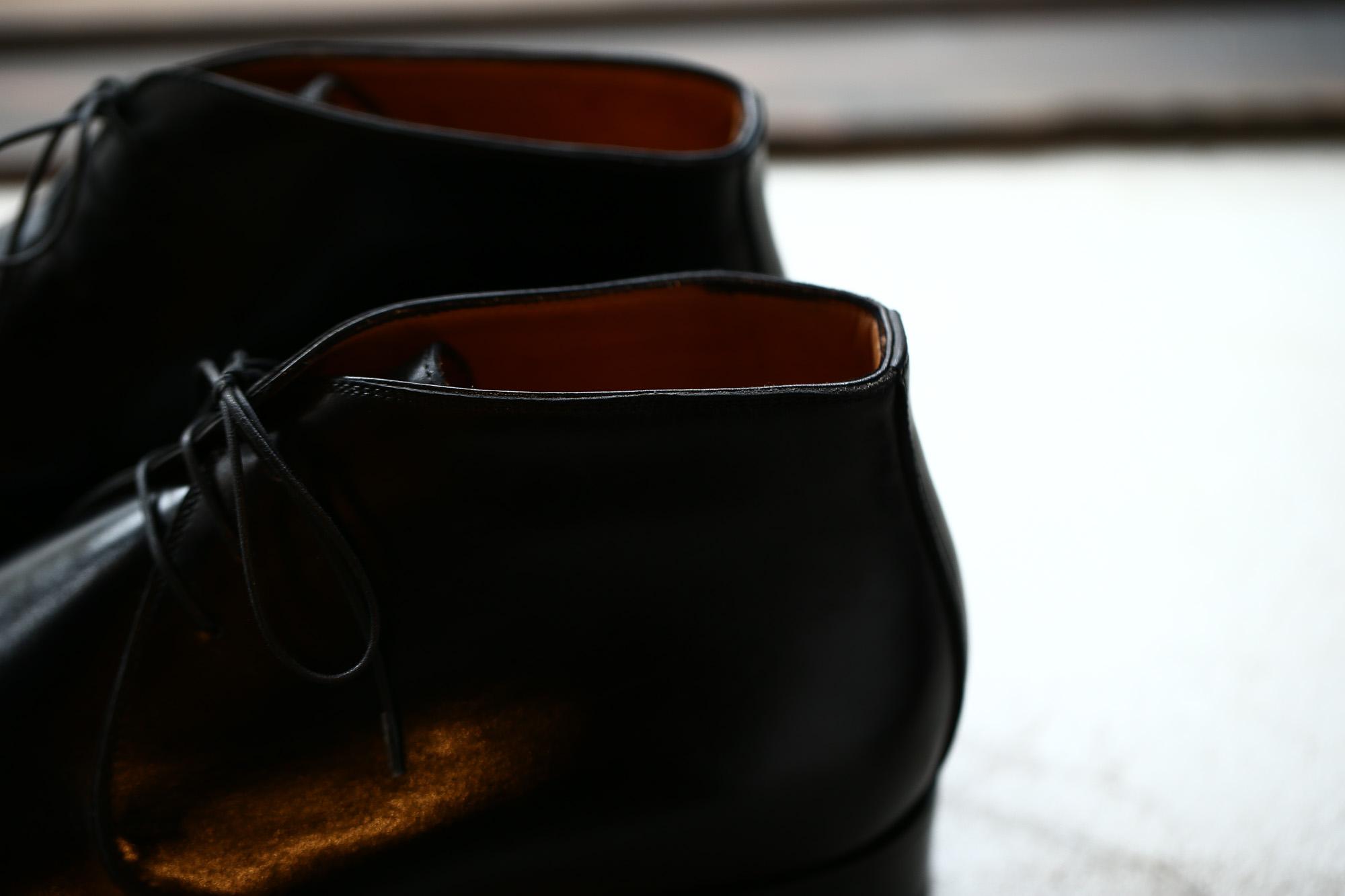 ENZO BONAFE(エンツォボナフェ) ART.3722 Chukka boots チャッカブーツ TEJUS テジュー リザードレザー ノルベジェーゼ製法 コードバンブーツ BLACK(ブラック) made in italy (イタリア製) 2018 秋冬 enzobonafe ボナフェ ブーツ チャッカ 愛知 名古屋 Alto e Diritto アルト エ デリット ドカゲ リザード
