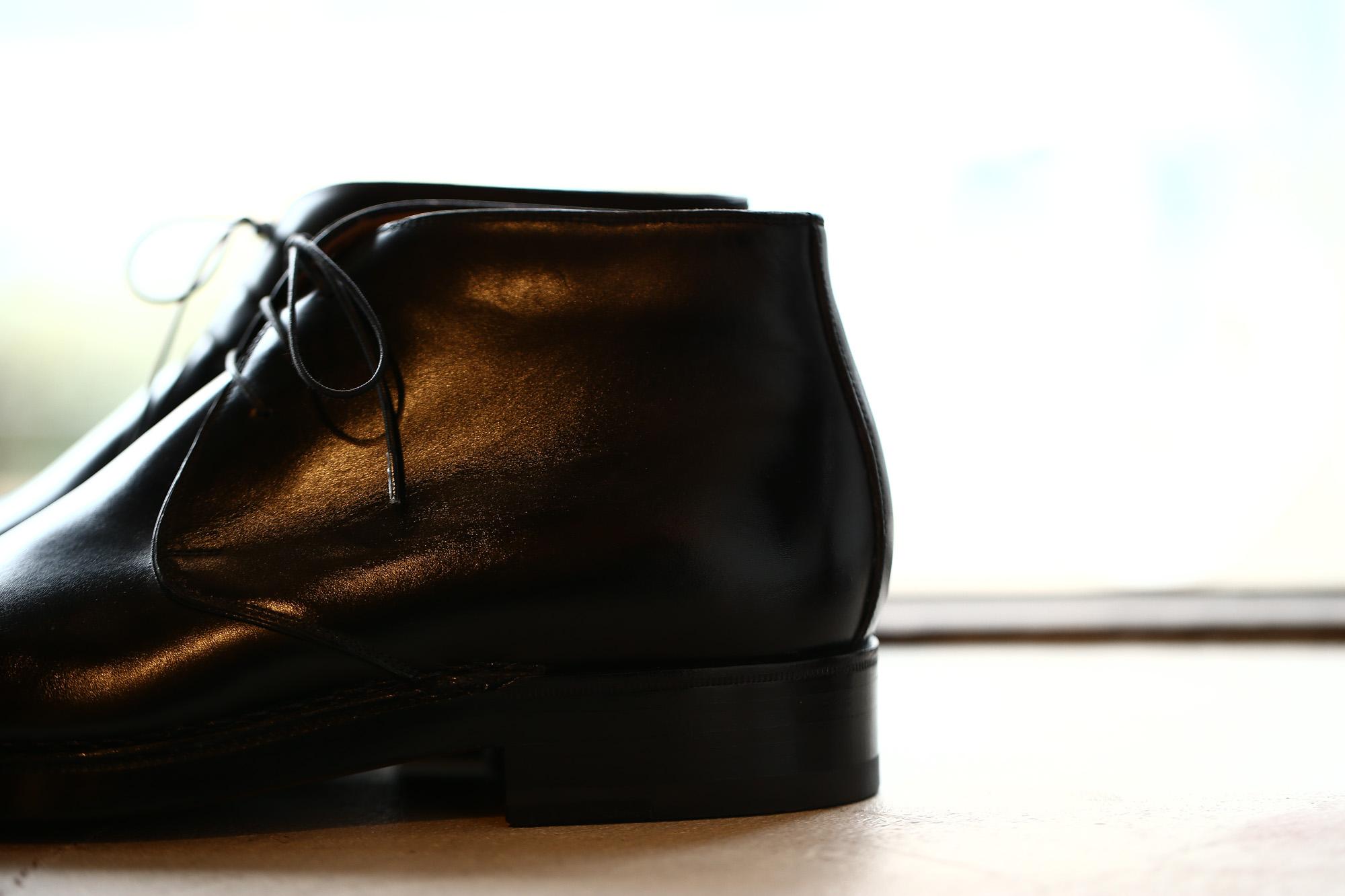 ENZO BONAFE(エンツォボナフェ) ART.3722 Chukka boots チャッカブーツ TEJUS テジュー リザードレザー ノルベジェーゼ製法 コードバンブーツ BLACK(ブラック) made in italy (イタリア製) 2018 秋冬 enzobonafe ボナフェ ブーツ チャッカ 愛知 名古屋 ZODIAC ゾディアック ドカゲ リザード