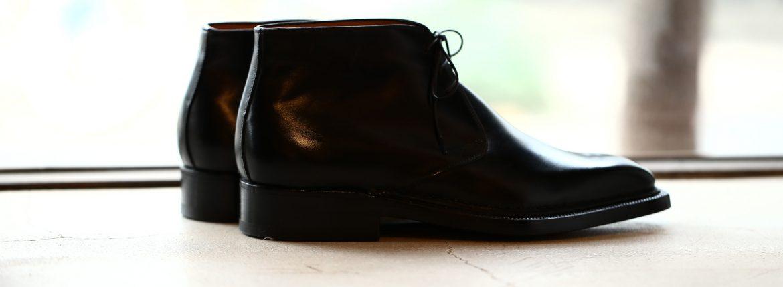 ENZO BONAFE(エンツォボナフェ) ART.3722 Chukka boots チャッカブーツ TEJUS テジュー リザードレザー ノルベジェーゼ製法 エキゾチックレザーブーツ BLACK ・2290(ブラック・2290) made in italy (イタリア製) 2018 秋冬のイメージ