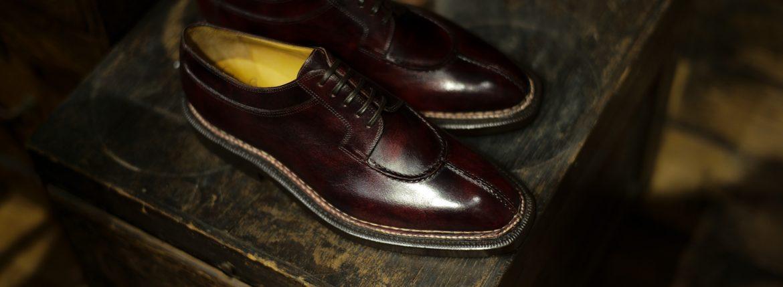 ENZO BONAFE(エンツォボナフェ) BERING ベーリング Bonaudo Museum Calf Leather(ボナウド社ミュージアムカーフレザー) ノルベジェーゼ製法 Uチップシューズ レザーシューズ PLUM(バーガンディー) made in italy(イタリア製)のイメージ