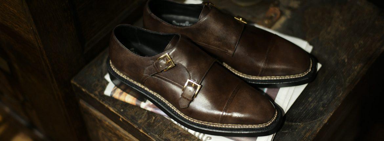 ENZO BONAFE × HIROSHI TSUBOUCHI × ZODIAC(エンツォボナフェ × ヒロシツボウチ × ゾディアック) 【ART.EB-02】 Double Monk Strap Shoes Bonaudo Museum Calf Leather ボナウド社 ミュージアムカーフ Norwegian Welted Process ノルベジェーゼ製法 ダブルモンクストラップシューズ PEWTER (ピューター) made in italy (イタリア製) 【Special Model】 enzobonafe hiroshitsubouchi エンツォボナフェ 愛知 名古屋 ZODIAC ゾディアック ダブルモンク