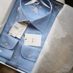 FRAY (フライ) Poplin Dress Shirts コットン ブロード ポプリン ドレスシャツ BLUE (ブルー・06) made in italy (イタリア製) 2018 春夏新作のイメージ