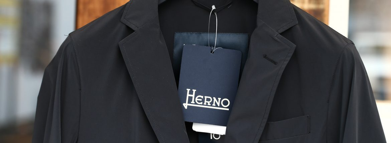 HERNO (ヘルノ) GA0069U Stretch Nylon Jacket (ストレッチ ナイロン ジャケット) 撥水ナイロン 2Bジャケット BLACK (ブラック・9300) Made in italy (イタリア製) 2018 春夏新作のイメージ