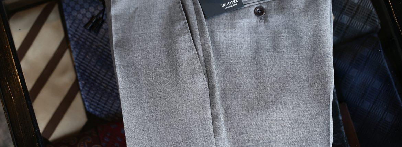 INCOTEX (インコテックス) 1NT035 SLIM FIT SUPER 100'S YARN DYED TROPICAL サマーウール スラックス GRAY (グレー・905) 2018 春夏新作のイメージ