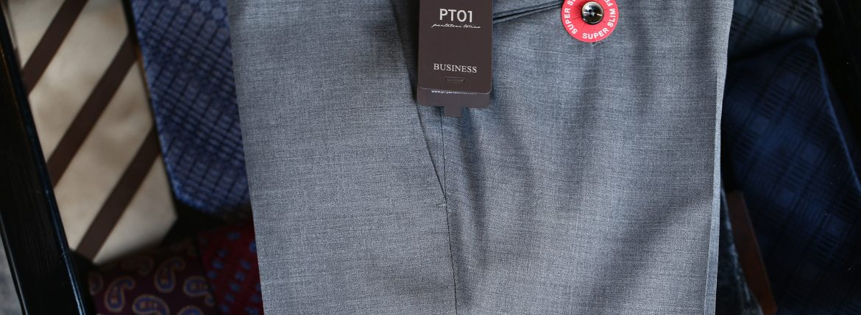 PT01 (ピーティーゼロウーノ) BUSINESS SUPER SLIM FIT (スーパースリムフィット) ストレッチ トロピカル サマーウール スラックス MEDIUM GRAY (ミディアムグレー・0240) 2018 春夏新作のイメージ