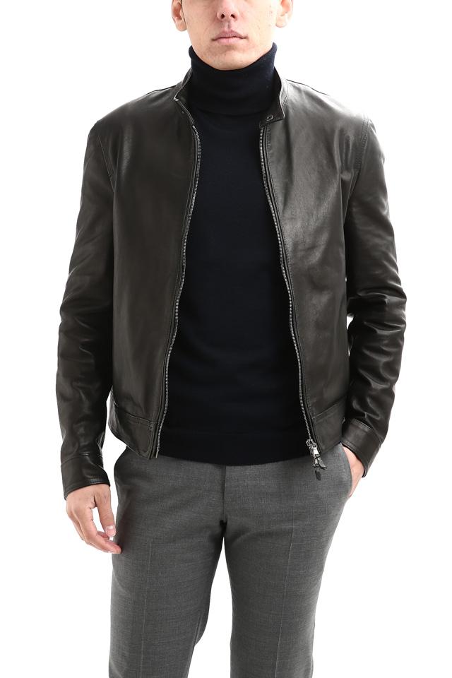 EMMETI(エンメティ) JURI(ユリ) Lambskin nappa Leather シングルライダース レザージャケット NERO (ブラック) made in italy (イタリア製) 2019 春夏【12月29日入荷分は明日夕方より販売開始します】