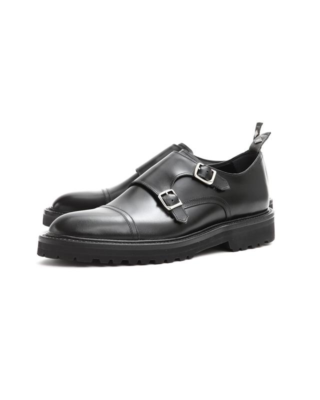 WH (ダブルエイチ) 【WH-0300(WHS-0300)】 Double Monk Strap Shoes (干場氏 スペシャル モデル) Cruise Last (クルーズラスト) ダブルモンクストラップシューズ BLACK (ブラック) MADE IN JAPAN (日本製) 2018 春夏新作 【干場氏、坪内氏の直筆サイン入り】【ZODIAC限定 スペシャルアイテム】