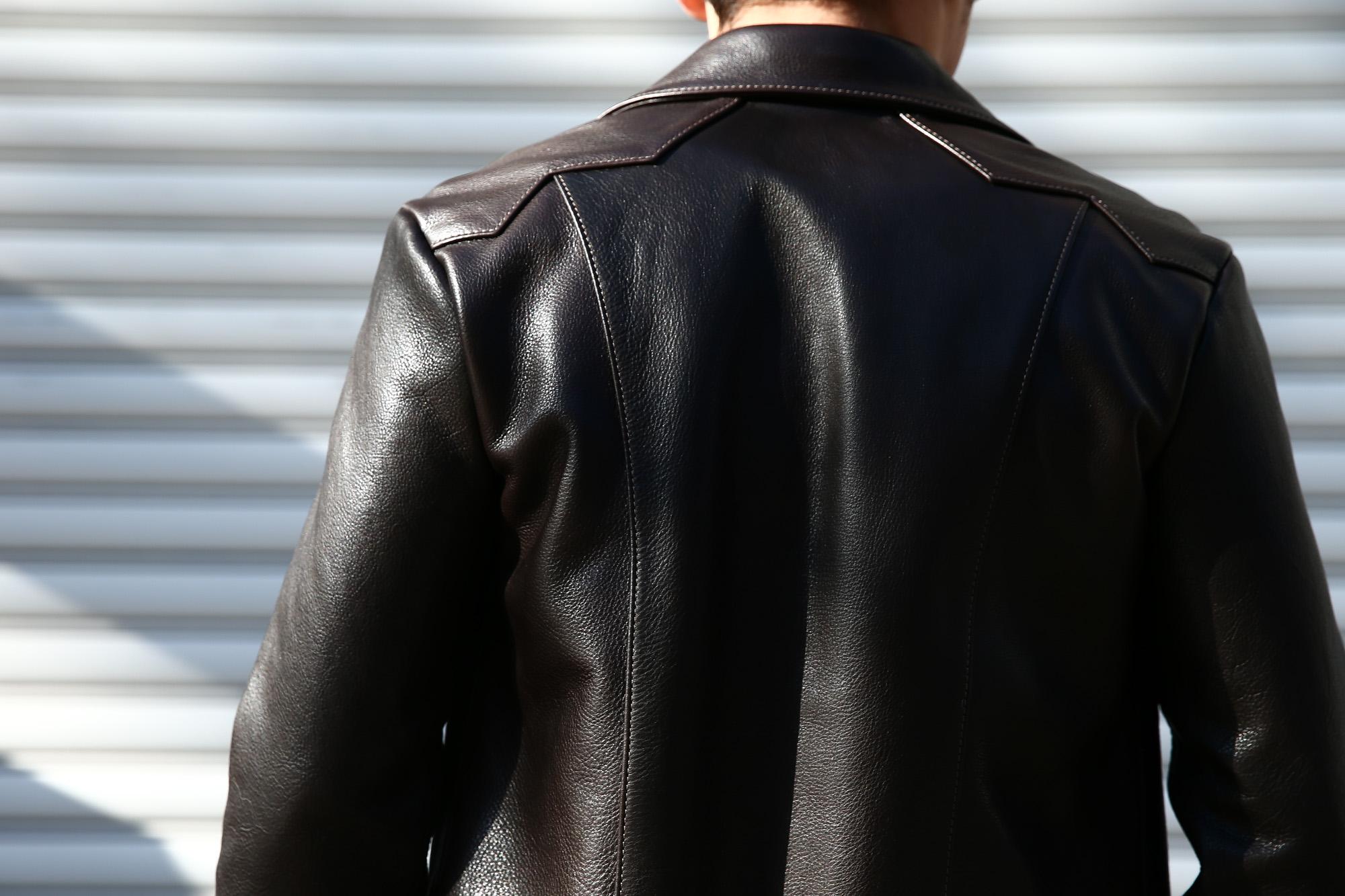 South Paradiso Leather(サウスパラディソレザー) East West イーストウエスト 【WINCHESTER //// ウィンチェスター】 Cow Hide Leather カウハイドレザー レザージャケット DARK BROWN(ダークブラウン) MADE IN USA(アメリカ製) のコーディネート画像、愛知 名古屋 ZOIDAC ゾディアック サウスパラディソ パラディソ レザー ヴィンテージ ビンテージ