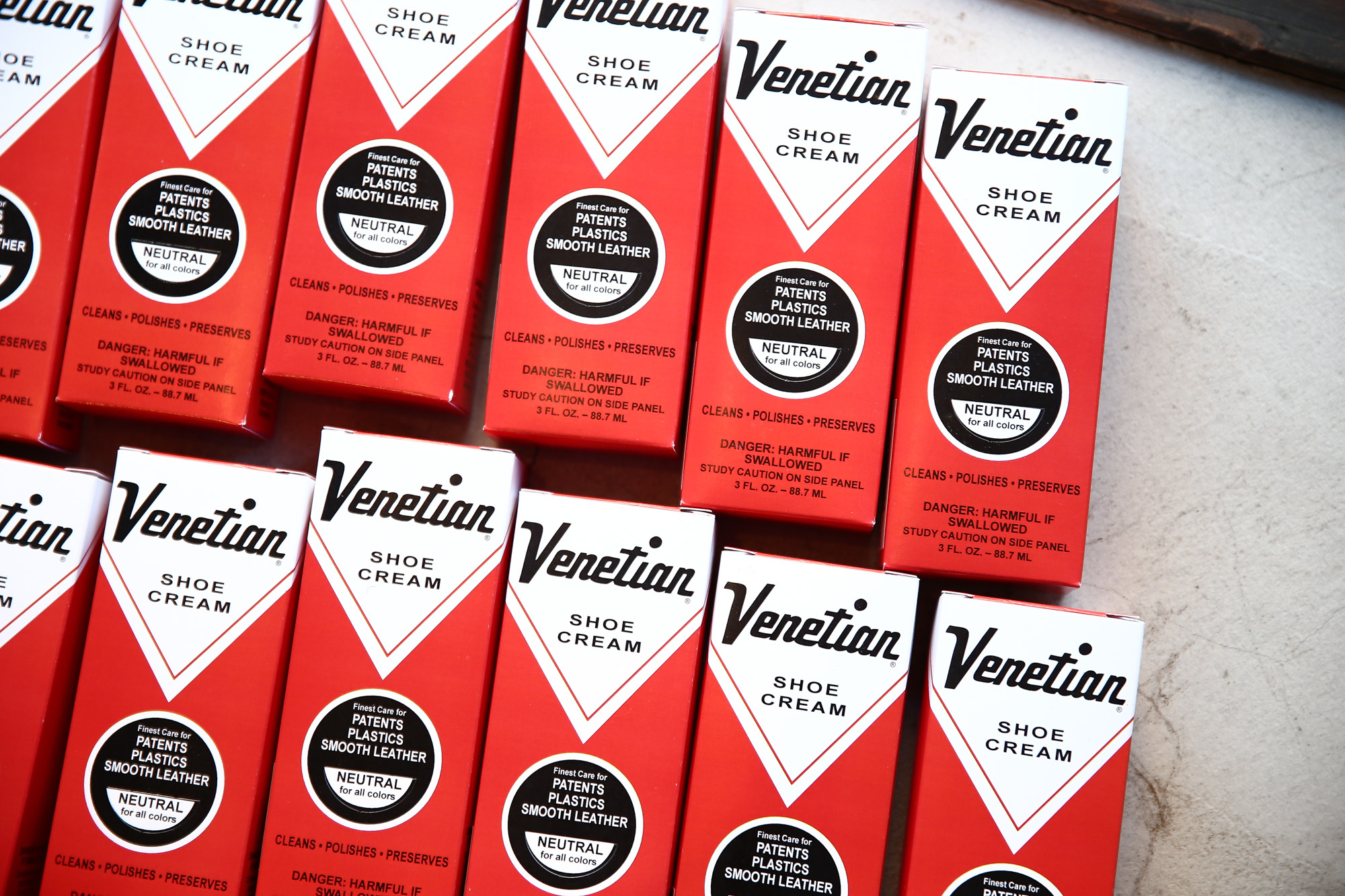 VENETIAN CREAM(ベネチアンクリーム) VENETIAN SHOE CREAM(ベネチアンシュークリーム) 3oz (74ml) 乳化性クリーム シューケア シュークリーム NEUTRAL(ニュートラル・無色) MADE IN USA(アメリカ製) venetiancream ベネチアンクリーム コードバン 愛知 名古屋 ZODIAC ゾディアック