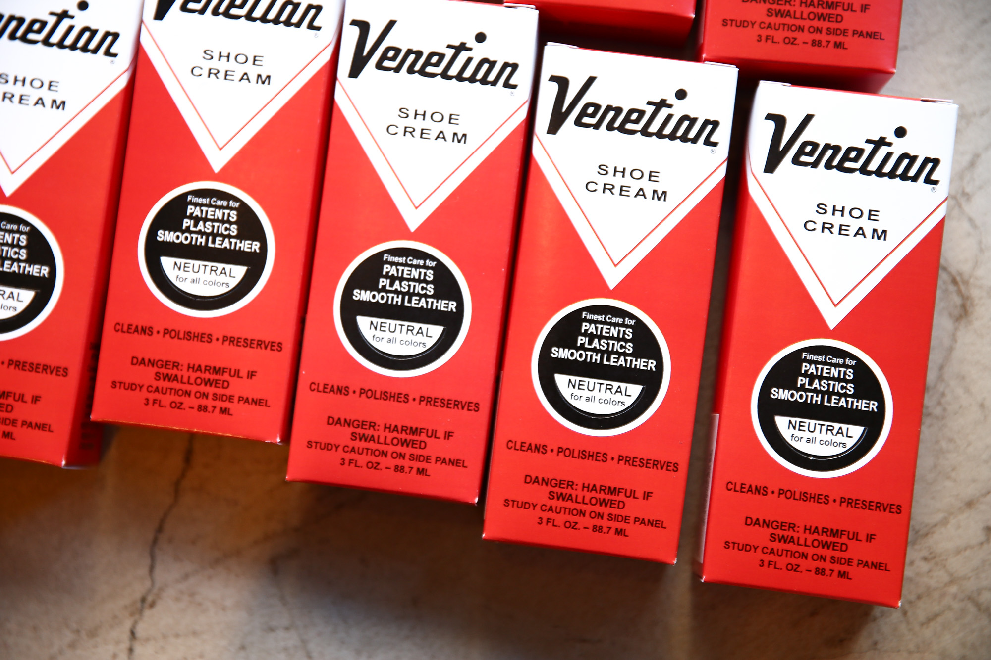 VENETIAN CREAM(ベネチアンクリーム) VENETIAN SHOE CREAM(ベネチアンシュークリーム) 3oz (74ml) 乳化性クリーム シューケア シュークリーム NEUTRAL(ニュートラル・無色) MADE IN USA(アメリカ製) venetiancream ベネチアンクリーム コードバン 愛知 名古屋 Alto e Diritto アルト エ デリット