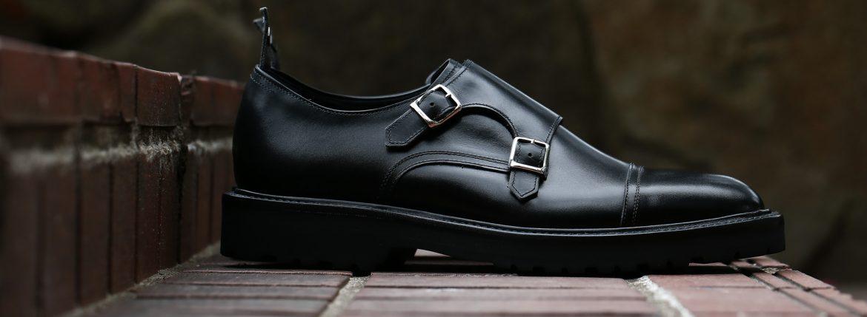 WH (ダブルエイチ) 【WH-0300(WHS-0300)】 Double Monk Strap Shoes (干場氏 スペシャル モデル) Cruise Last (クルーズラスト) ダブルモンクストラップシューズ BLACK (ブラック) MADE IN JAPAN (日本製) 2018 春夏新作 【干場氏、坪内氏の直筆サイン入り】【ZODIAC限定 スペシャルアイテム】のイメージ