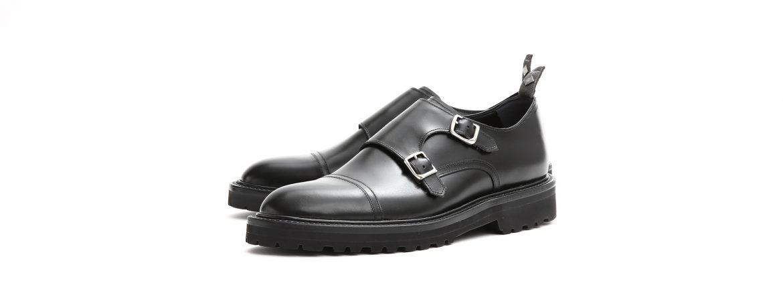 WH (ダブルエイチ) 【WH-0300】 Double Monk Strap Shoes (干場氏 スペシャル モデル) Cruise Last (クルーズラスト) ダブルモンクストラップシューズ BLACK (ブラック) MADE IN JAPAN (日本製) 2018 春夏新作 【干場氏、坪内氏の直筆サイン入り】【ZODIAC限定 スペシャルアイテム】 wh 干場さん 干場スペシャル FORZASTYLE フォルザスタイル 愛知 名古屋 ZODIAC ゾディアック