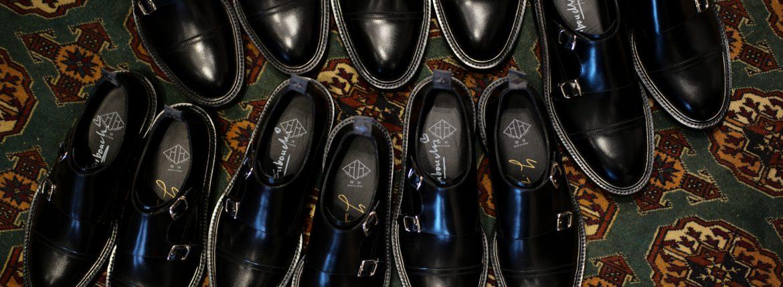 WH (ダブルエイチ) 【WH-0300】 Double Monk Strap Shoes (干場氏 スペシャル モデル) Cruise Last (クルーズラスト) ダブルモンクストラップシューズ BLACK (ブラック) MADE IN JAPAN (日本製) 2018 春夏新作 wh 干場さん 干場スペシャル FORZASTYLE フォルザスタイル 愛知 名古屋 ZODIAC ゾディアック