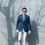 BOGLIOLI MILANO (ボリオリ ミラノ) 【K.JACKET / Kジャケット】 メランジバスケット生地 アンコンジャケット NAVY (ネイビー・66) Made in italy (イタリア製) 2018 春夏新作のイメージ