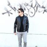 CINQUANTA (チンクアンタ) 【H508】 W RIDERS SL CAVALLO (ダブルライダース ジャケット SL) ホースレザー ライダース ジャケット BLACK (ブラック・999) Made in italy (イタリア製) 2018 春夏新作