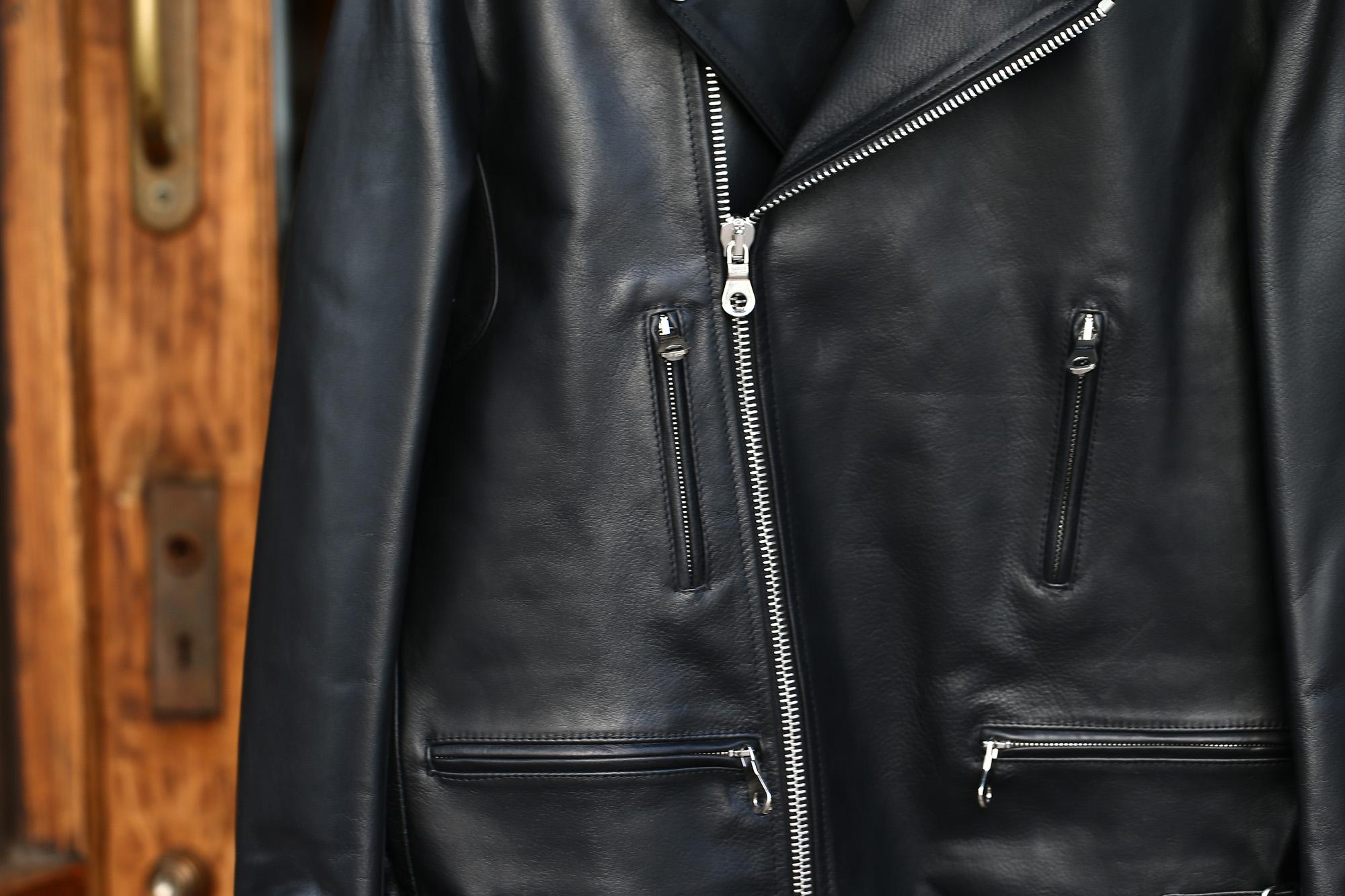 CINQUANTA (チンクアンタ) H508 W RIDERS SL CAVALLO (ダブルライダース ジャケット SL) ホースレザー ライダース ジャケット BLACK (ブラック・999) Made in italy (イタリア製) 2018 春夏新作 cinquanta チンクアンタ レザージャケット ジャケット 愛知 名古屋 ZODIAC ゾディアック