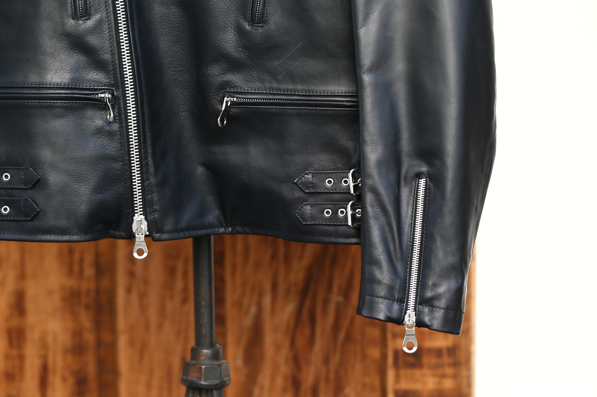 CINQUANTA (チンクアンタ) H508 W RIDERS SL CAVALLO (ダブルライダース ジャケット SL) ホースレザー ライダース ジャケット BLACK (ブラック・999) Made in italy (イタリア製) 2018 春夏新作 cinquanta チンクアンタ レザージャケット ジャケット 愛知 名古屋 Alto e Diritto アルト エ デリット