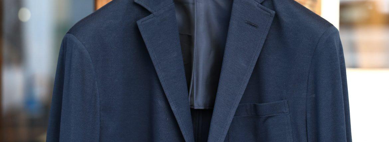 Cruciani (クルチアーニ) Cotton Jersey Jacket (コットンジャージージャケット) Micro Smooth Cotton マイクロスムースコットン ニット ジャケット NAVY (ネイビー・10973) made in italy (イタリア製) 2018 春夏新作のイメージ