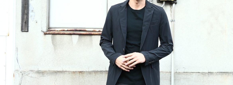 【HERNO / ヘルノ】 GA0069U Stretch Nylon Jacket (ストレッチ ナイロン ジャケット) 撥水ナイロン 2Bジャケット BLACK (ブラック・9300) Made in italy (イタリア製) 2018 春夏新作のイメージ