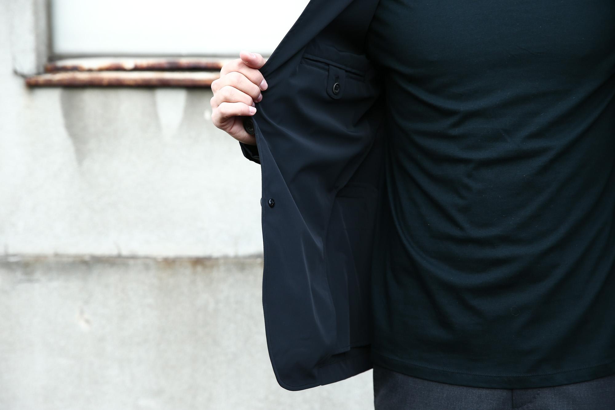 【HERNO / ヘルノ】 GA0069U Stretch Nylon Jacket (ストレッチ ナイロン ジャケット) 撥水ナイロン 2Bジャケット BLACK (ブラック・9300) Made in italy (イタリア製) 2018 春夏新作  愛知 名古屋 ZODIAC ゾディアック 42,44,46,48,50,52,54