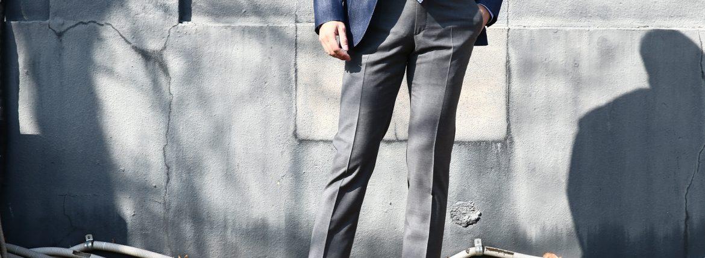 INCOTEX (インコテックス) 1NT035 SLIM FIT SUPER 100'S YARN DYED TROPICAL サマーウール スラックス 【MEDIUM GRAY / ミディアムグレー・910】 2018 春夏新作 incotex インコテックス グレスラ 愛知 名古屋 ZODIAC ゾディアック