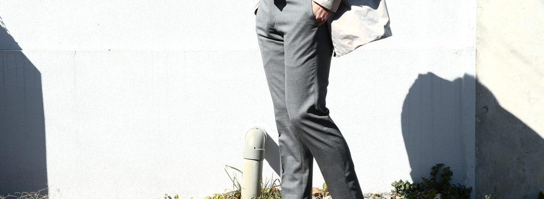【PT01 / ピーティーゼロウーノ】 BUSINESS SUPER SLIM FIT (スーパースリムフィット) ストレッチ トロピカル サマーウール スラックス 【MEDIUM GRAY / ミディアムグレー・0240】 2018 春夏新作 pt01 ピーティー 愛知 名古屋 ZODIAC ゾディアック