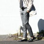 【PT01 / ピーティーゼロウーノ】 BUSINESS SUPER SLIM FIT (スーパースリムフィット) ストレッチ トロピカル サマーウール スラックス 【MEDIUM GRAY / ミディアムグレー・0240】 2018 春夏新作