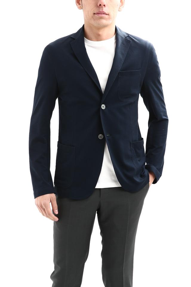 Cruciani(クルチアーニ) Cotton Jersey Jacket (コットンジャージージャケット) Micro Smooth Cotton マイクロスムースコットン ニット ジャケット NAVY (ネイビー・10973) made in italy (イタリア製) 2018 春夏新作