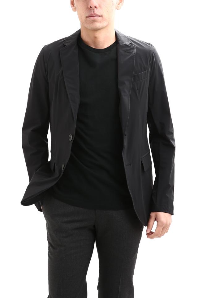 【HERNO / ヘルノ】 GA0069U Stretch Nylon Jacket (ストレッチ ナイロン ジャケット) 撥水ナイロン 2Bジャケット BLACK (ブラック・9300) Made in italy (イタリア製) 2018 春夏新作