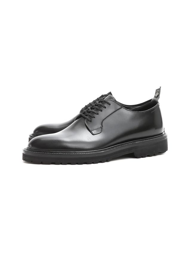 【WH / ダブルエイチ】 【WH-0001(WHS-0001)】 Plane Toe Shoes (干場氏 スペシャル モデル) Cruise Last (クルーズラスト) ANNONAY Vocalou Calf Leather プレーントゥシューズ BLACK (ブラック) MADE IN JAPAN(日本製) 2018 春夏新作   【干場氏、坪内氏の直筆サイン入り】【Alto e Diritto限定 スペシャルアイテム】
