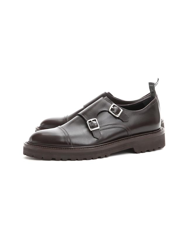 【WH / ダブルエイチ】 【WH-0300(WHS-0300)】 Double Monk Strap Shoes (干場氏 スペシャル モデル) Cruise Last (クルーズラスト) ダブルモンクストラップシューズ DARK BROWN (ダークブラウン) MADE IN JAPAN (日本製) 2018 春夏新作   【干場氏、坪内氏の直筆サイン入り】【Alto e Diritto限定 スペシャルアイテム】