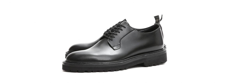 【WH / ダブルエイチ】 【WH-0001(WHS-0001)】 Plane Toe Shoes (干場氏 スペシャル モデル) Cruise Last (クルーズラスト) ANNONAY Vocalou Calf Leather プレーントゥシューズ BLACK (ブラック) MADE IN JAPAN(日本製) 2018 春夏新作   【干場氏、坪内氏の直筆サイン入り】【ZODIAC限定 スペシャルアイテム】のイメージ